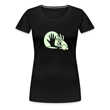 hand shadow rabbit glow in the dark T-Shirts
