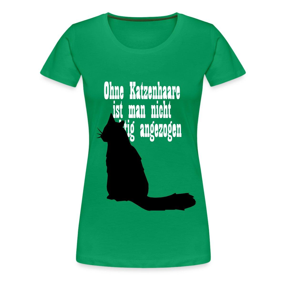 Ohne-Katzenhaare-Spruch-Frauen-Premium-T-Shirt-von-Spreadshirt