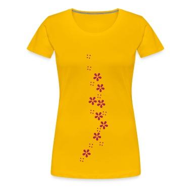 Blumen-Girlande / flower garland  (b, 1c) T-Shirts