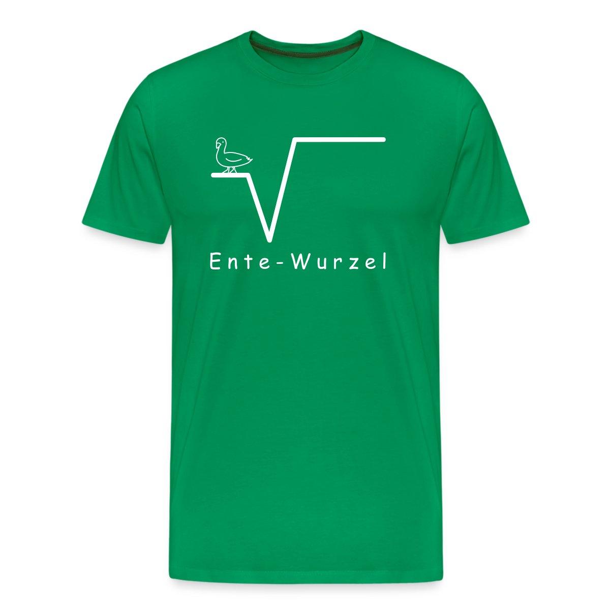 Mathe-Ente-Wurzel-Nte-Nerd-Maenner-Premium-T-Shirt-von-Spreadshirt