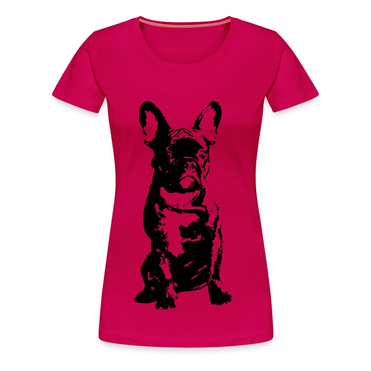 French-Bulldog-Fanzoesische-Bulldogge-Frenchie-Frauen-Premium-T-Shirt-von