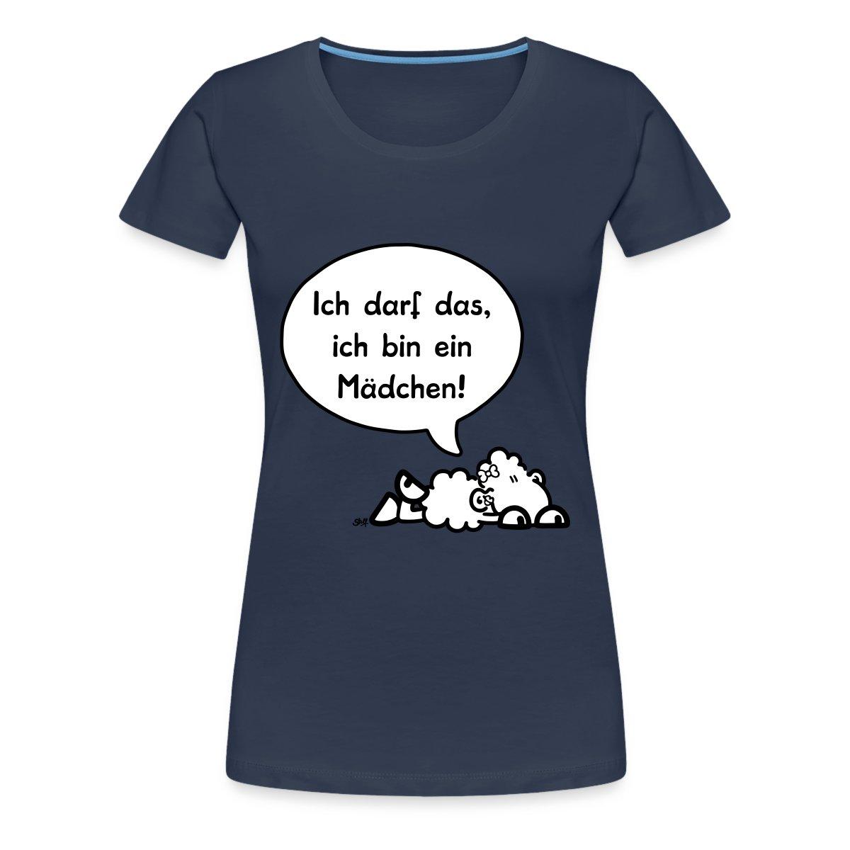 Sheepworld-Ich-darf-das-ich-bin-ein-Maedchen-Frauen-Premium-T-Shirt-von