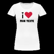 T-Shirt Personnalisé I Love Classique 4