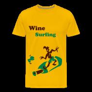 Funny Men T-Shirts - Wine Surfing - Funny Man Sport T-shirt