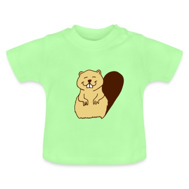 Mint green beaver Baby Shirts
