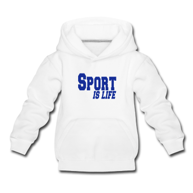 White sport is life Kids' Tops