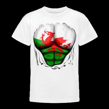 Wales Vlag Geript Spieren