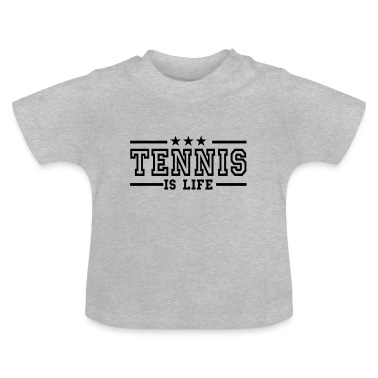 Heather grey tennis is life deluxe Baby Shirts