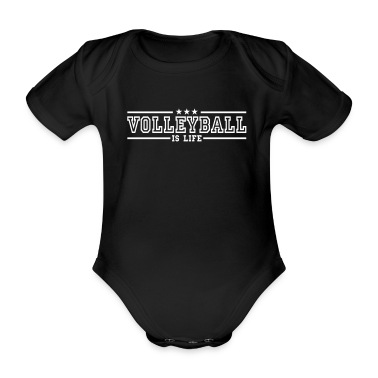 volleyball is life deluxe Baby Bodysuits