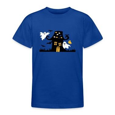 Royal blue Halloween Ghosts Cute Child Kids' Shirts