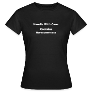 T-Shirts ~ Women's Standard T-Shirt ~ WOMENS SIMPLE: Handle with care