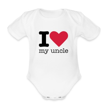 I Love My Uncle Baby Bodysuits