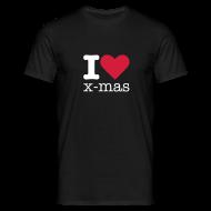 T-shirts ~ Mannen T-shirt ~ I Love X-mas