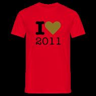 T-shirts ~ Mannen T-shirt ~ I Love 2011 - goud metallic