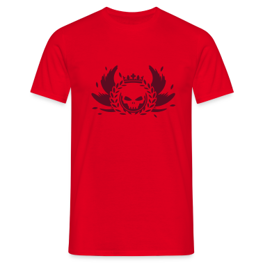 Skull with crown, wings and laurel wreath T-Shirts
