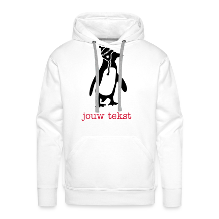 sweater penguin met jouw tekst wit