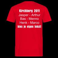 T-shirts ~ Mannen T-shirt ~ Skishirt met eigen tekst