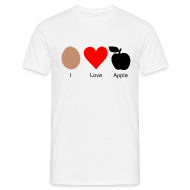 T-Shirts ~ Männer Standard T-Shirt ~ I Love Apple