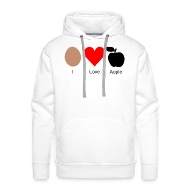 Pullover & Hoodies ~ Männer Kapuzenpullover ~ I Love Apple