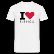 T-shirts ~ Mannen T-shirt ~ I Love 11-11-2011