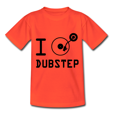 Ik speel dubstep / I Love Dubstep / vinyl DJ Kinder shirts