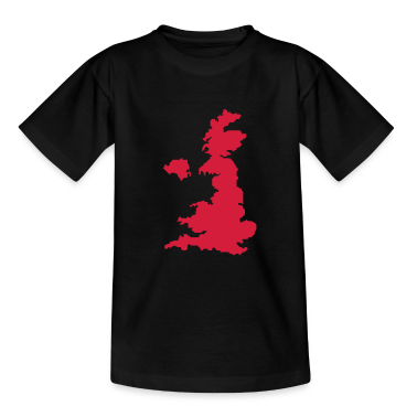 united kingdom uk map Kids' Shirts