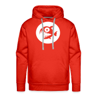 Hoodies & Sweatshirts ~ Men's Hoodie ~ Piranha hoodie - red/white