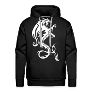 Hoodies & Sweatshirts ~ Men's Hoodie ~ Dragon hoodie - red/white
