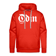 Hoodies & Sweatshirts ~ Men's Hoodie ~ Odin hoodie - red/white