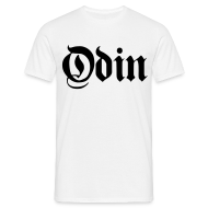 T-Shirts ~ Men's Standard T-Shirt ~ Odin t-shirt- white/black