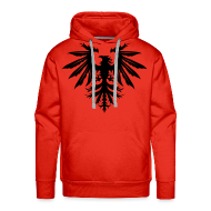 Hoodies & Sweatshirts ~ Men's Hoodie ~ Phenix hoodie - red/black