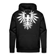 Hoodies & Sweatshirts ~ Men's Hoodie ~ Phenix hoodie - white/black