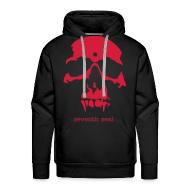 Hoodies & Sweatshirts ~ Men's Hoodie ~ Skull hoodie - black/red