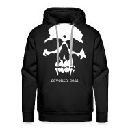 Hoodies & Sweatshirts ~ Men's Hoodie ~ Seventh Seal Skull hoodie - black/white