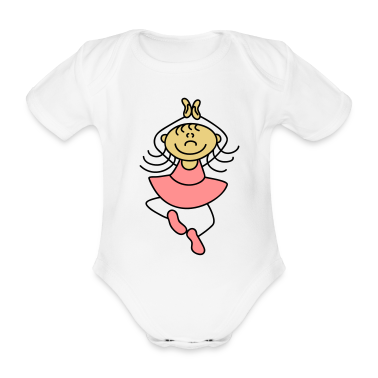 Cute little ballerina Baby Bodysuits