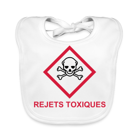 Bavoir b b rejets toxiques pictogramme clp sgh toxique boutique - Produit bebe non toxique ...