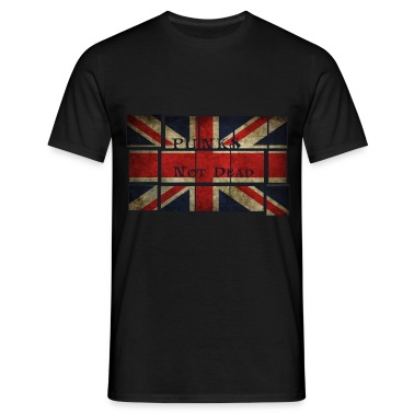 Punks Not Dead sulla bandiera inglese. T-shirt