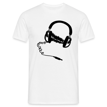 Headphones, audio wave minimum MNML Music T-Shirts