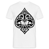 T-Shirts ~ Men's Standard T-Shirt ~ Ace of Spades Men's shirt - white/black