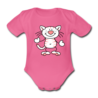 Little cat with stripes Baby Bodysuits
