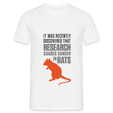 Research Causes Cancer 1 (dd)++ T-Shirts
