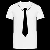 Skjorte med sort slips