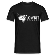 T-Shirts ~ Men's Standard T-Shirt ~ Lowbit Records Men's T-Shirt (White Print)
