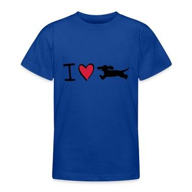 I love dachshunds Kids' Shirts