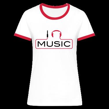 I love music plug headphones sound bass beat catch cable music i love techno minimal house club dance dj discjockey electronic electro T-Shirts