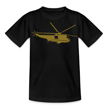 helicopter kids military rc Kids' Shirts