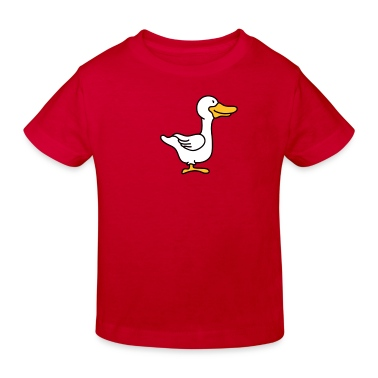Kleine süße Gans Kinder T-Shirts