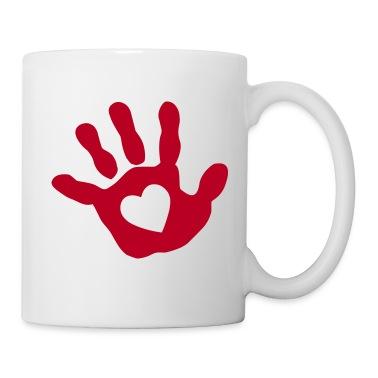 baby - hand - handprint - heart Mugs
