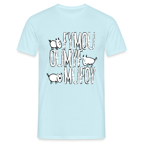 Männer T-Shirt klassisch - T-Shirts Drei Freunde Fymou, Oumyf und Mufoy