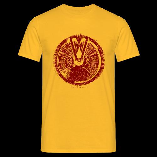 Männer T-Shirt klassisch - T-Shirts Maschinentelegraph (red oldstyle)